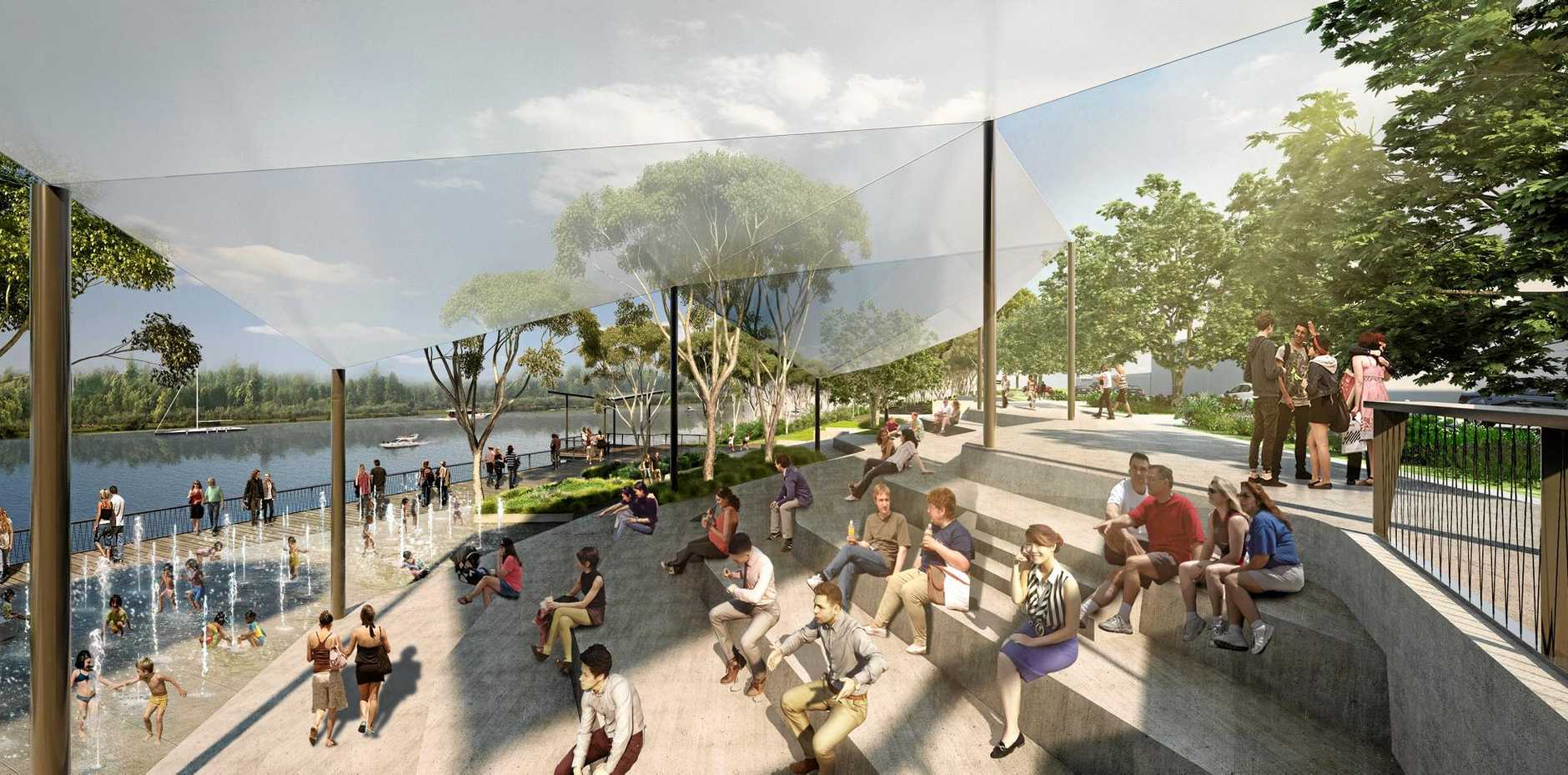 An artist's impression of the Rockhampton riverbank redevelopment.  Photo contributed.