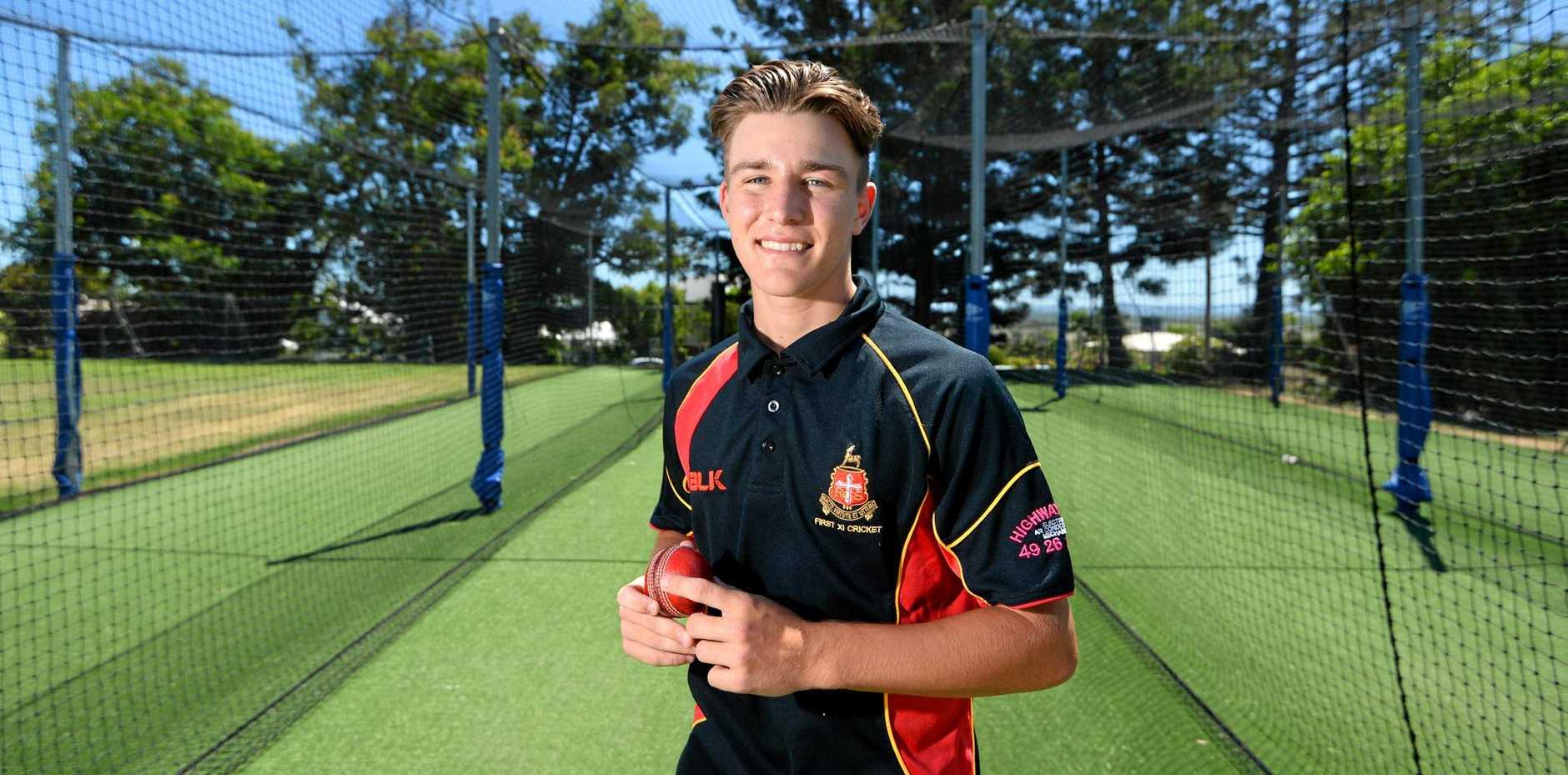 Logan Whitfield (16) debuted for Rockhampton Open in a representative cricket game.