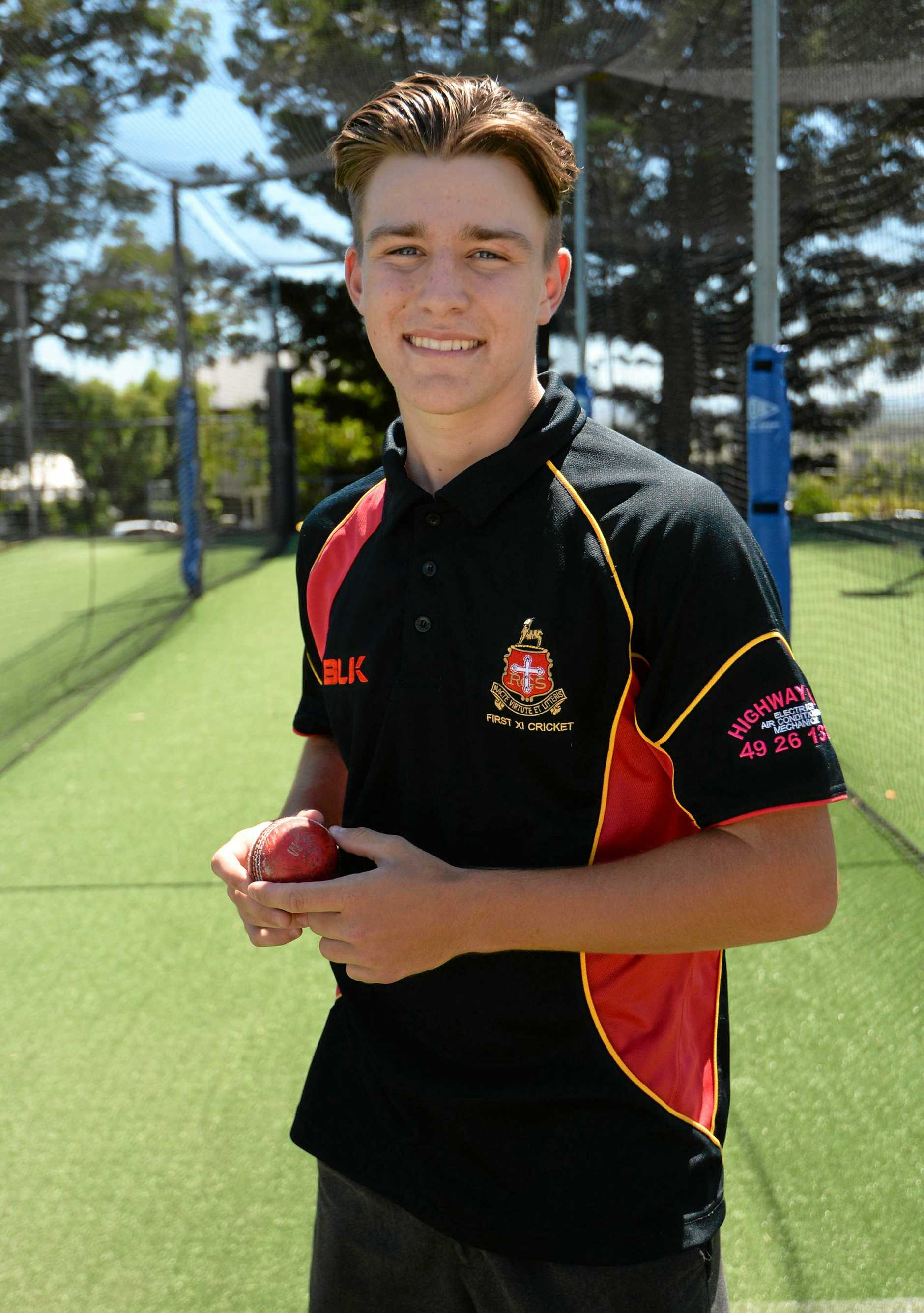 Logan Whitfield (16) debuted for Rockhampton Open in a representative cricket game.