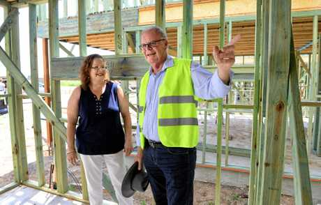 Greg Cree, founder of Project4Change at the site in Leichhardt with director Leanne Paulsen.