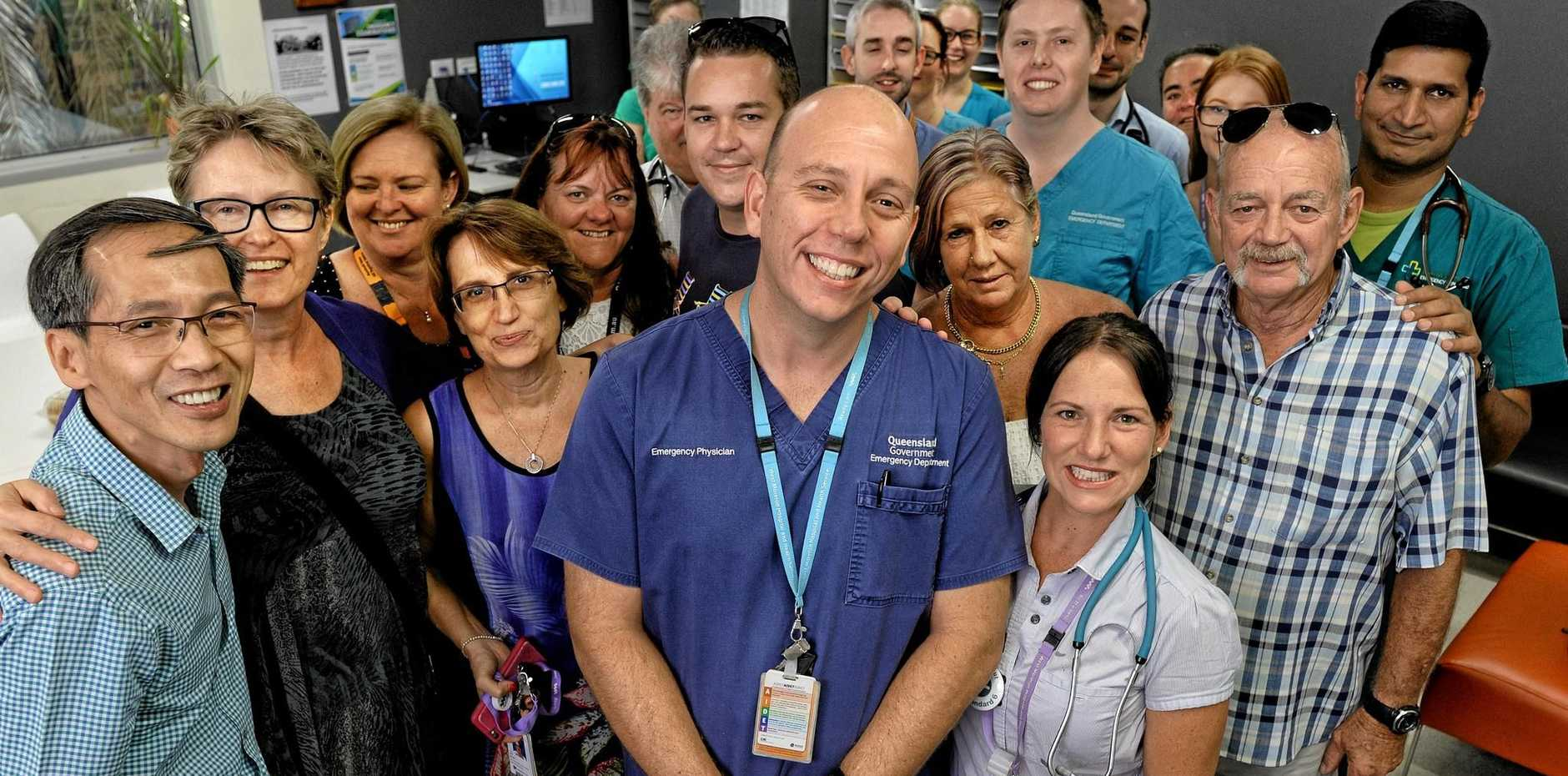 MASSIVE LOSS: Dr Daniel Bitmead, Ipswich Director of Emergency Department, finishes on Friday.