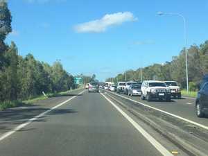 Crash causes traffic gridlock