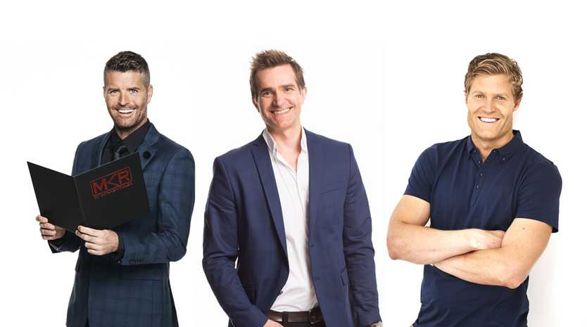 My Kitchen Rules, Married At First Sight and I'm A Celebrity... Get Me Out of Here will all compete for a slice of the ratings pie from Monday. From left, Pete Evans, John Aiken and Chris Brown.