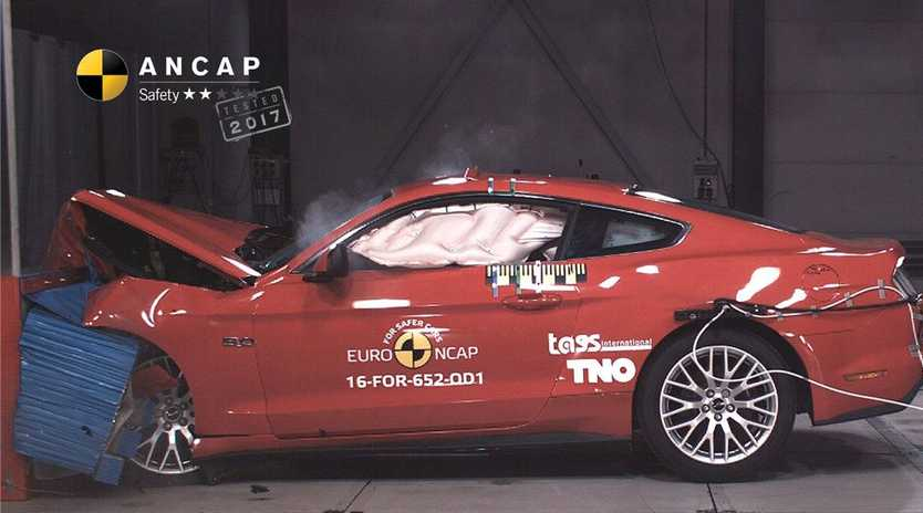 BAD CRASH: Australia's most popular sports car last year, the Ford Mustang, has scored a dismal 2 stars in Australia's independent ANCAP crash testing