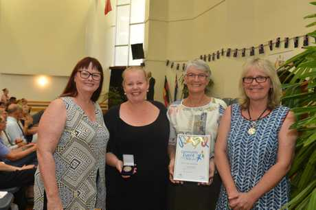Australia day awards and Citizenship ceremony in Gympie Community Event of the Year Kim Walters, Kerri Eaton, Marion Sillett Julie Wright.