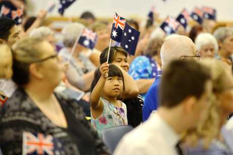 A photo of an Australian citizenship ceremony held in Gympie.