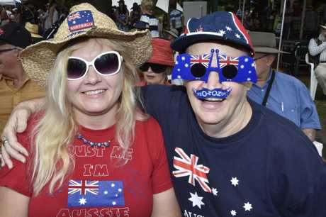 Katherine Marsh and Gordon Seymour. Australia Day celebrations at Picnic Point. January 26, 2017