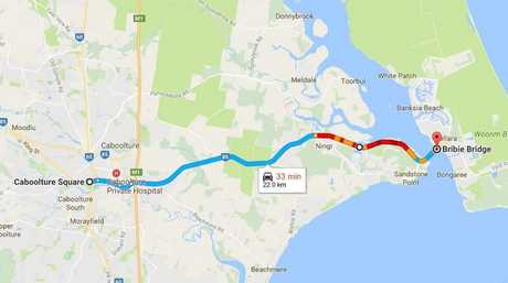TRAFFIC CHAOS: Heading to Bribie Island? Traffic is starting to ease, with congestion around Ningi and the Sandstone Pt Hotel.