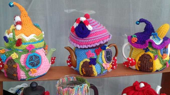 CLEVER AND COLOURFUL: The wide variety of tea cosies by Merrin Shaw will amaze passers-by.