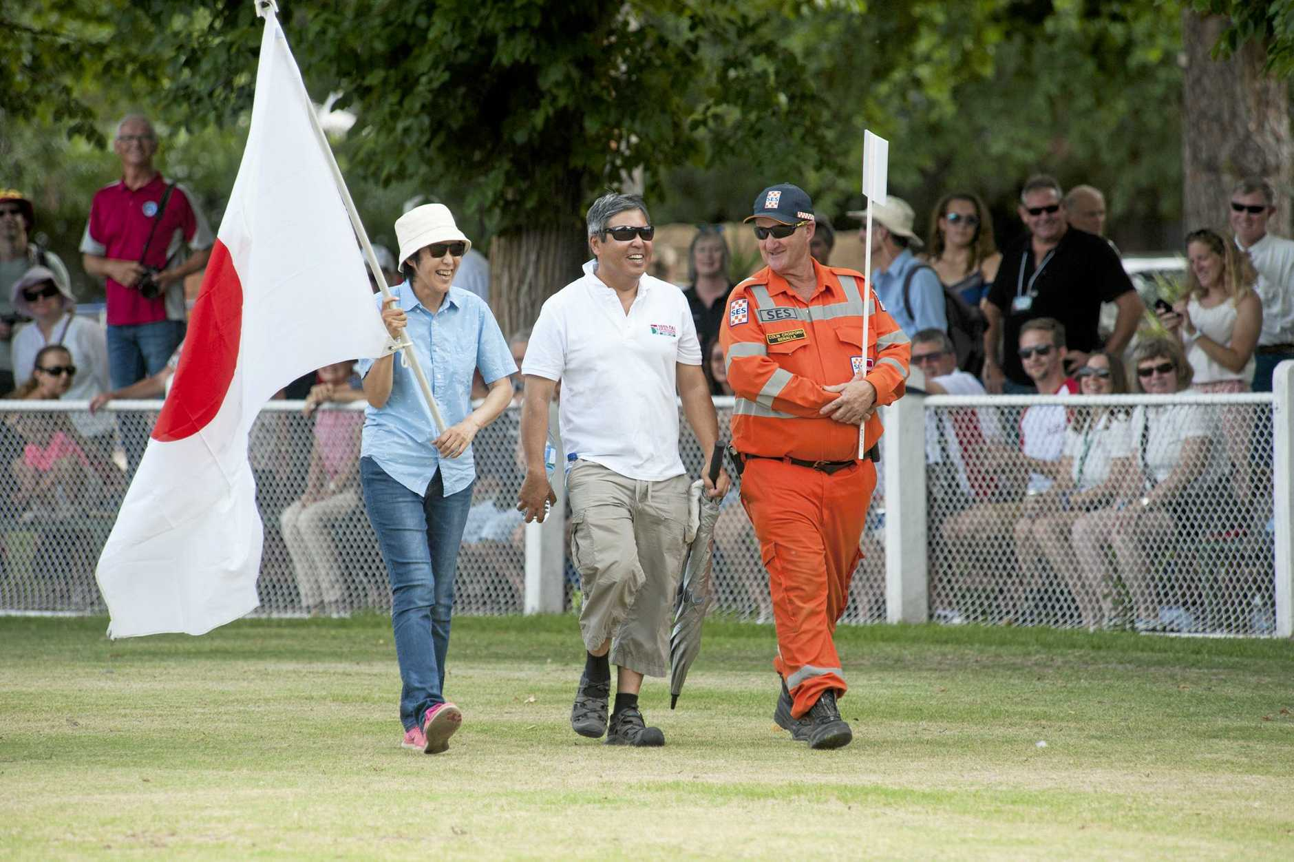 ALSTONVILLE resident Makoto Ichikawa, (centre) 50, took out the silver at the 2017 World Gliding Championships in Victoria.