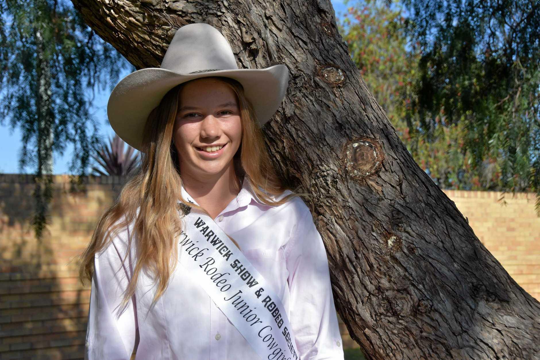 Aspiring rodeo princess Kira Holmes has won the Junior Sports Award this Australia Day.