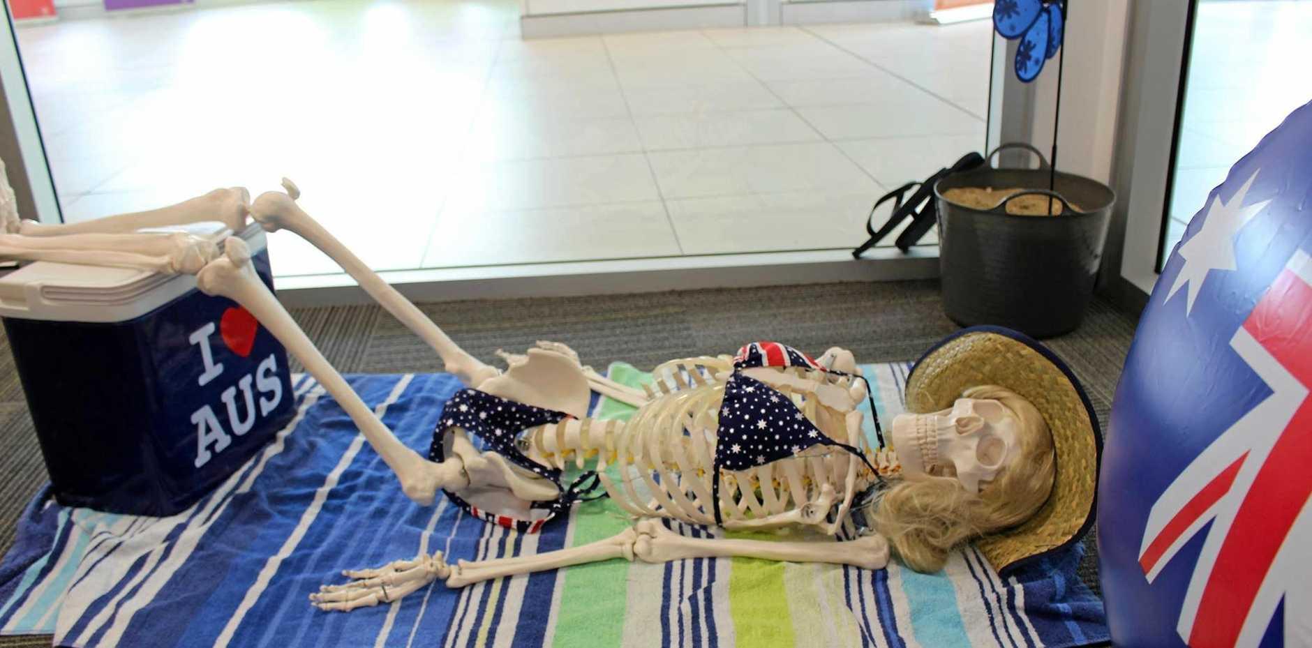The Australia Day display at Mackay Base Hospital's Medical Imaging department.