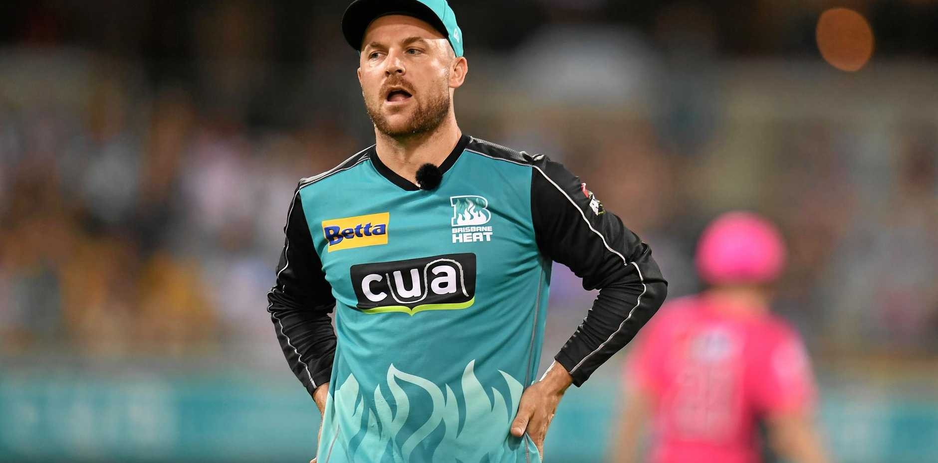 Disappointed .... Brisbane Heat captain Brendon McCullum