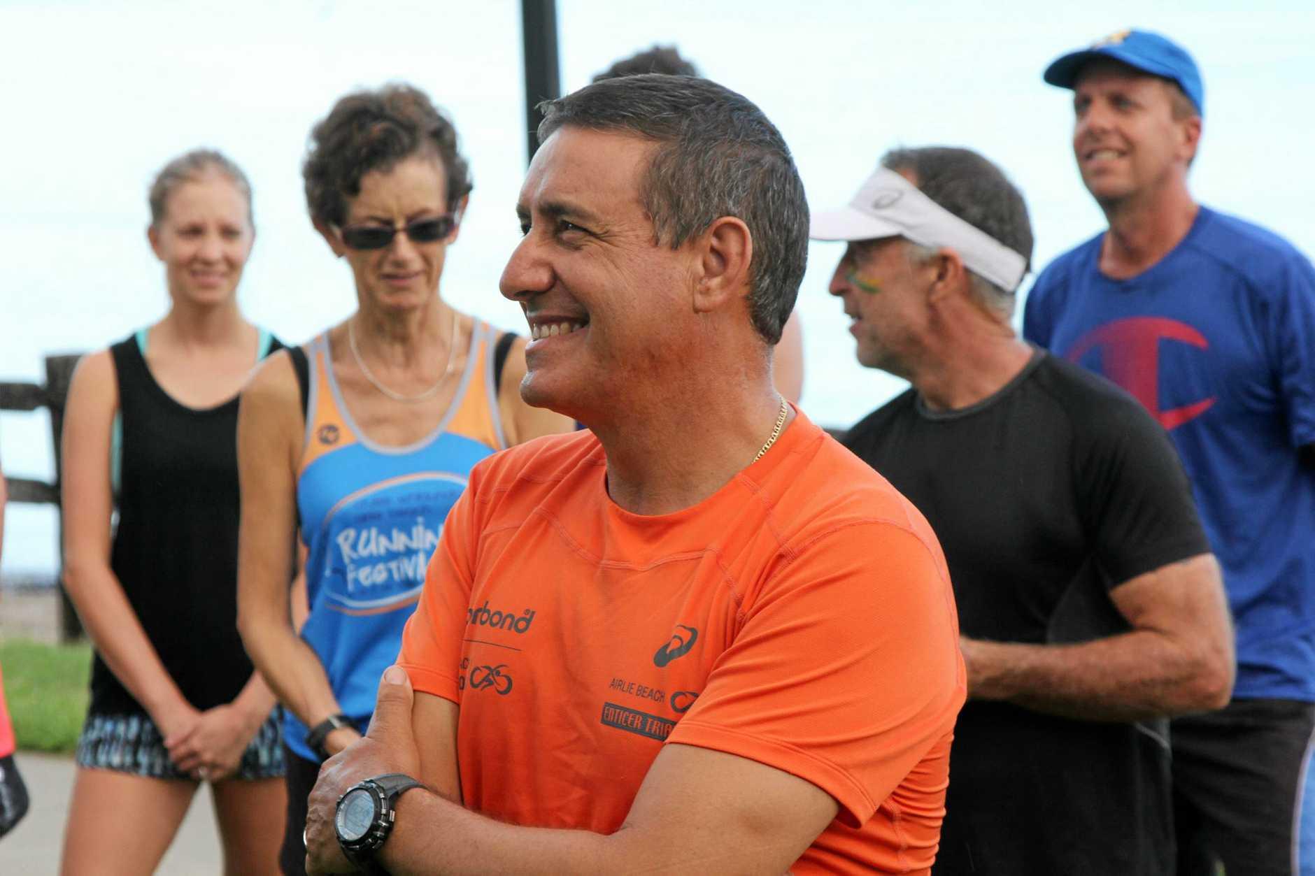 Sam Vinci at the inagural running of the Magic Mile.