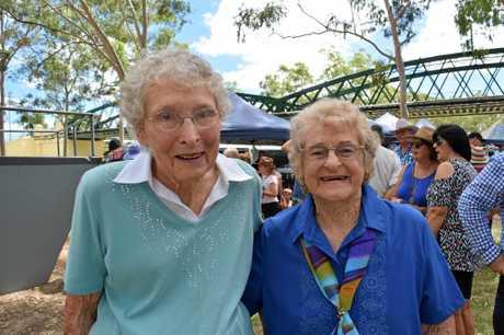 COMMUNITY SPIRIT: Beatrice Jones and Jean Vane.