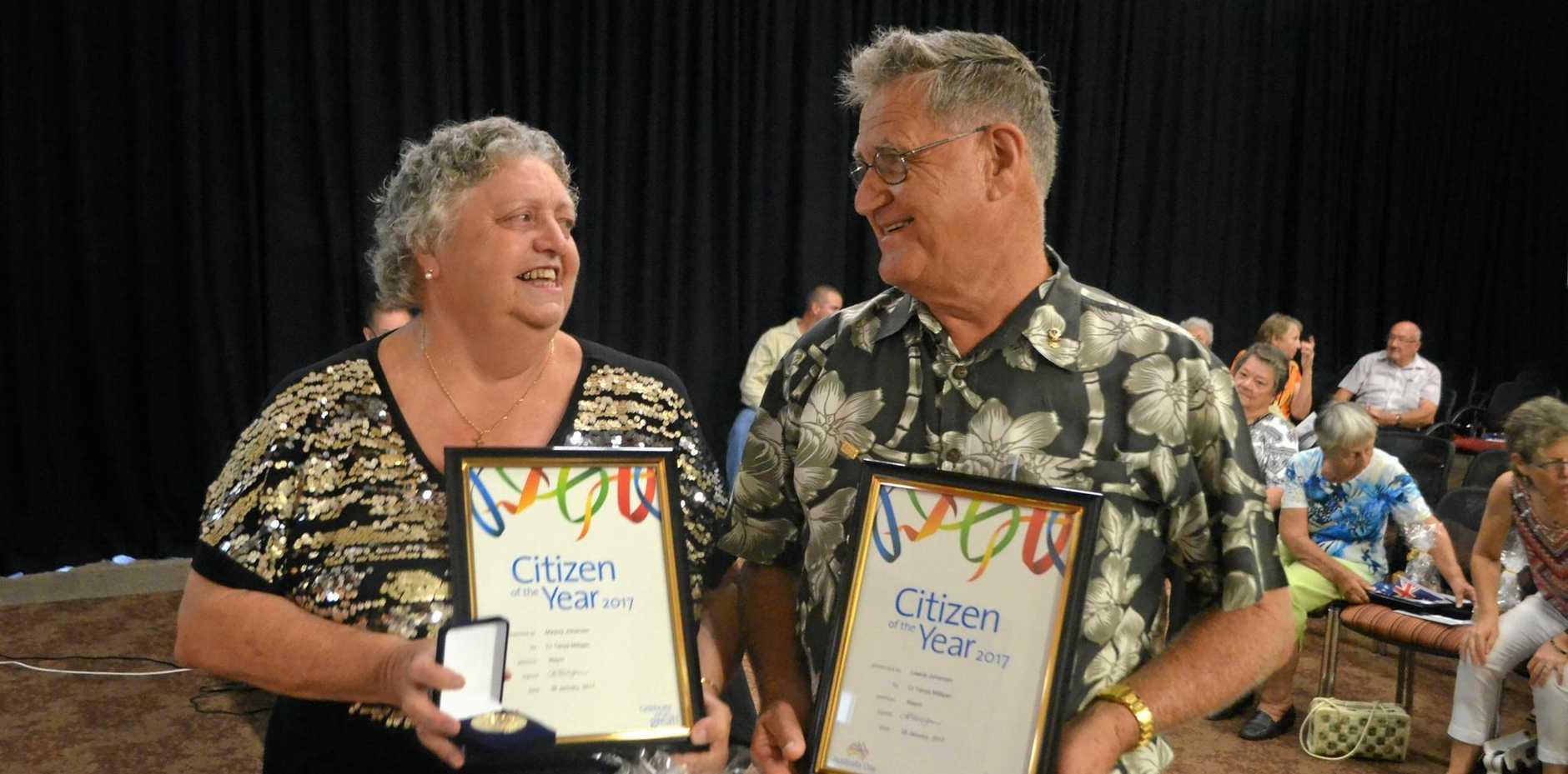LOCKYER'S FINEST: The Johansen's win the 2017 Lockyer Valley Citizen of the Year Award.