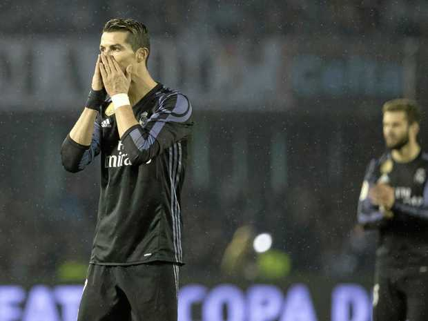 Real Madrid's Cristiano Ronaldo scored against Celta Vigo but could not prevent defeat.