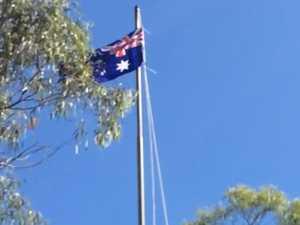 Flag raising at Gladstone Horse Club