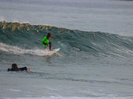 Eden Hasson, 10, had no idea of the danger lurking inside this wave.