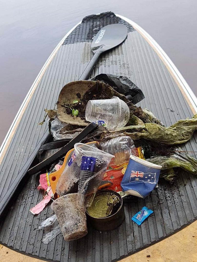 Rubbish cleaned up from Lake Ainsworth this morning. Photos from Lennox Head Resident's Association.