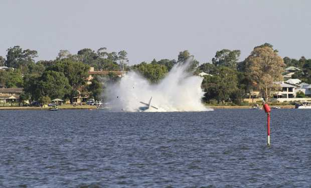 Peter Lynch died when his seaplane crashed into the Swan River in Perth. Photo Vicki Clark