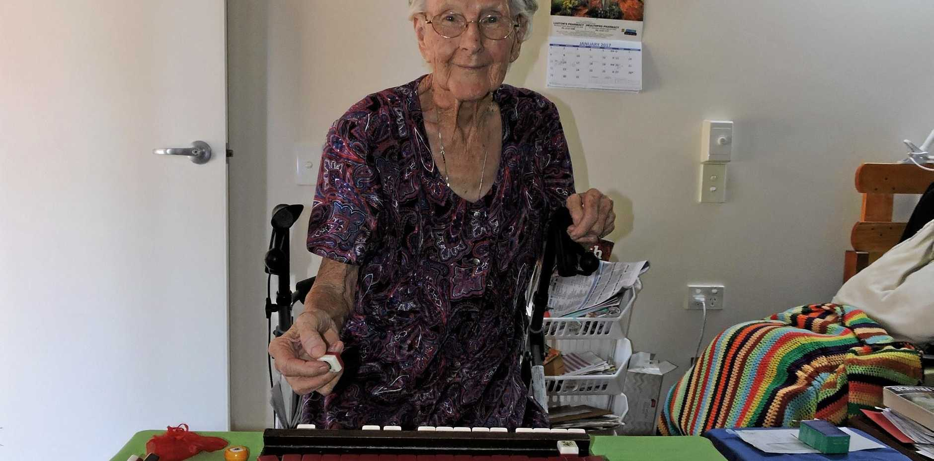 FUN COMPETITION: Ruth Brown loves to play and teach the Chinese game of mah jong.