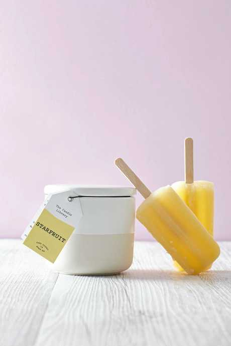 Starfruit is one of the summer range candles from Byron Bay-based The Candle Library.