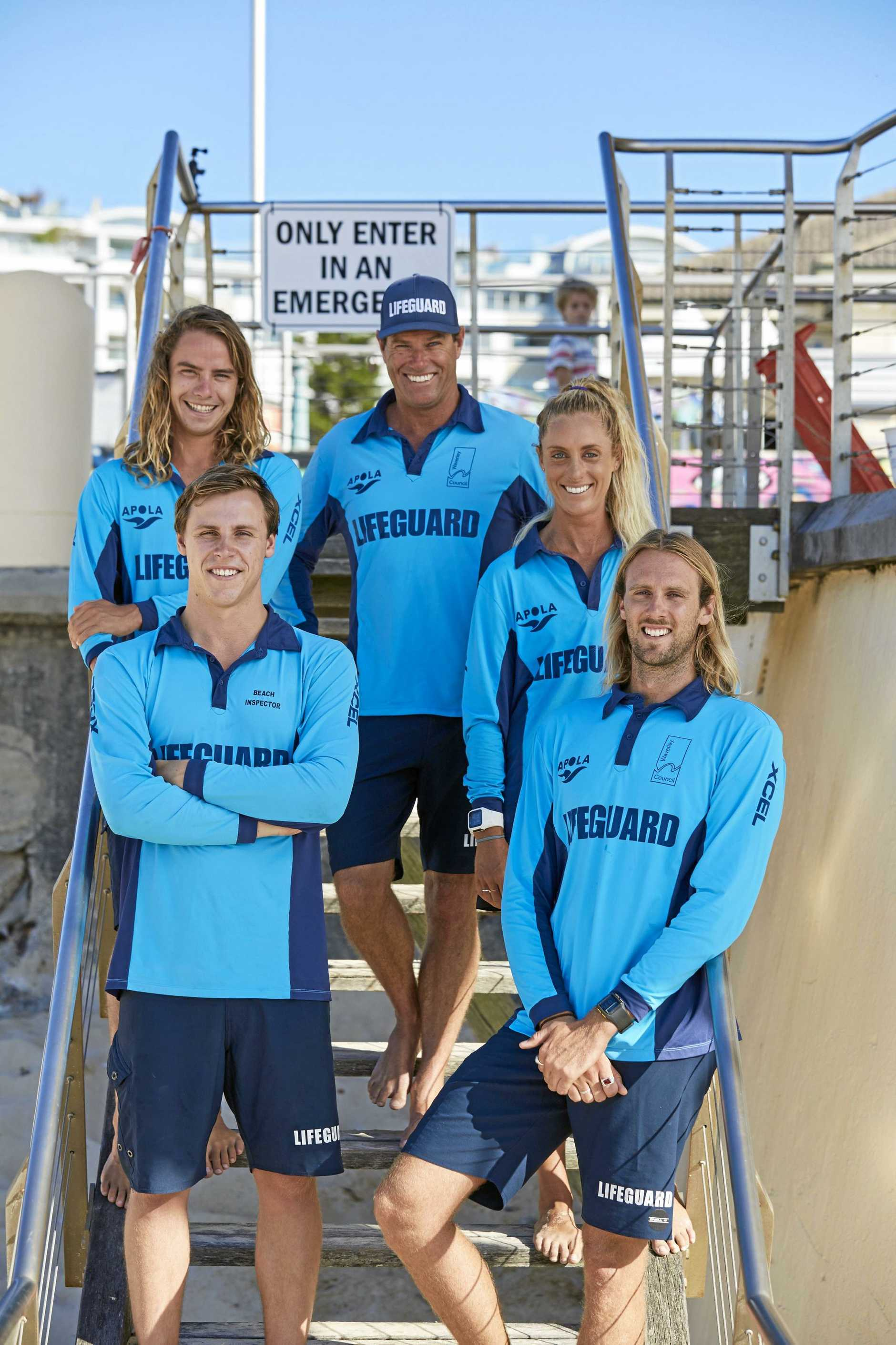 Joel and Juliana join Tommo and Wally as the new recruits on the new season of Bondi Rescue, led by head lifeguard Bruce