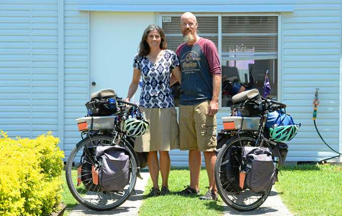 L-R Julie-Anne and Ken Fox have just returned from a cycling adventure through Central America.
