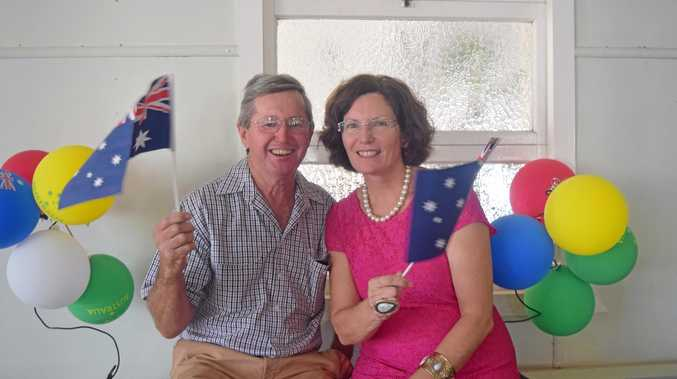 WARRA WINNERS: Citizens of the Year Steve and Ann Wunsch received their award for serving the Jandowae district.