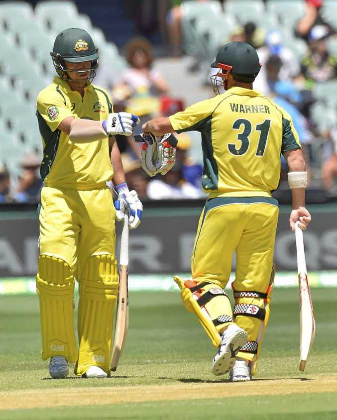David Warner and Travis Head shared an Australian record one-day partnership of 284.
