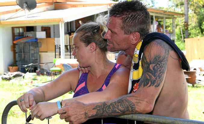 FIGHTING BACK: Amanda Rehbein and Greg Snell have responded to claims they trashed a house.