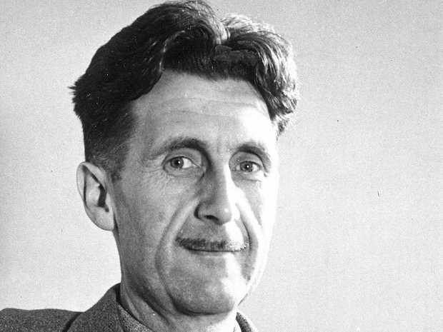 FILE - This undated image shows George Orwell, author of \