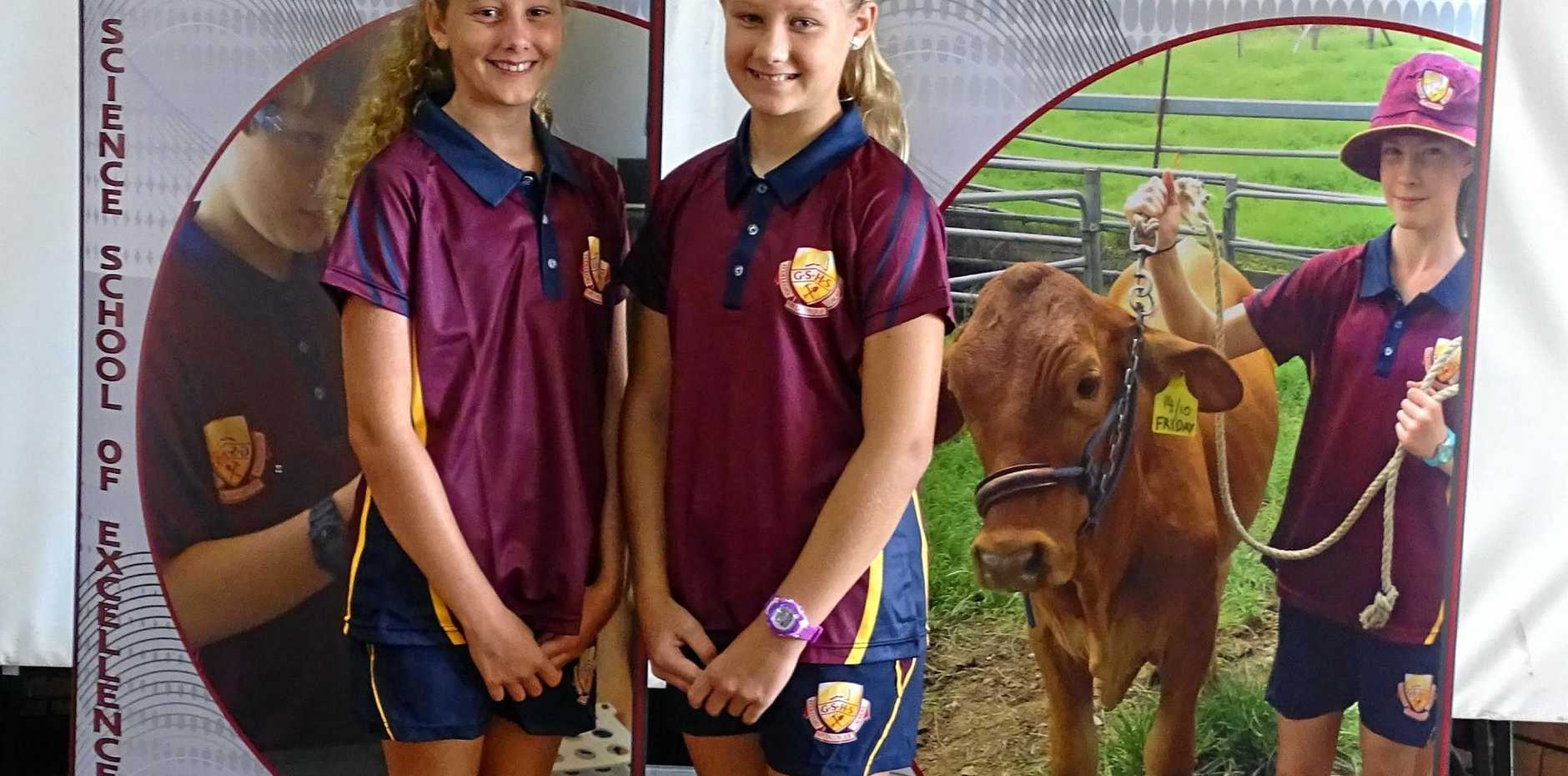 BEGINNING: Year 7 students Lily Wintle-Legge and Tahlia Patterson.