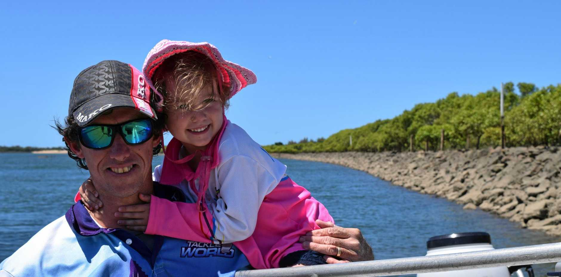 GREAT FISHING: Andrew and Sienna Elworthy at Mackay's River Street boat ramp.