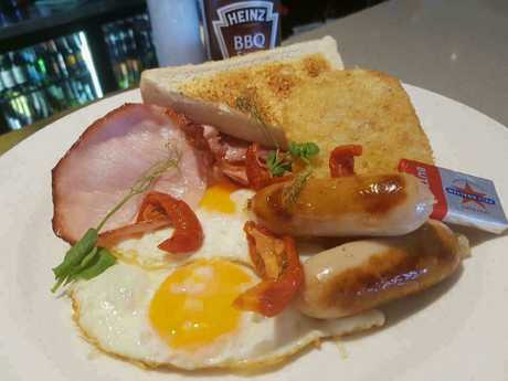 The breakfasts at Cafe Inferno are both popular and affordable.