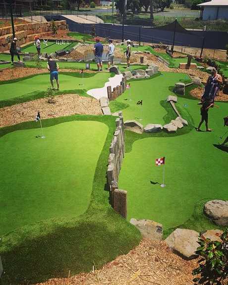 Mini golf course at City Golf Club.
