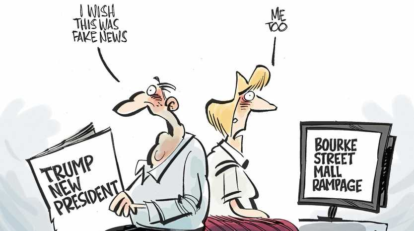 Fake news is the word of the year and the word on the street.