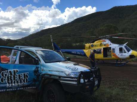 The Toowoomba-based LifeFlight Rescue helicopter airlifted a teenage boy after he fell from his motorbike.