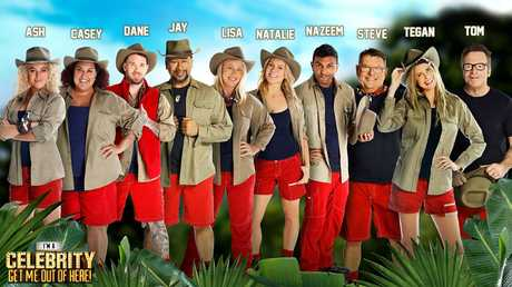The 2017 contestants from I'm A Celebrity Get Me Out of Here! from left, Ash Pollard, Casey Donovan, Dane Swan, Jay Laga'aia, Lisa Curry, Natalie Bassingthwaighte, Nazeen Hussain, Steve Price, Tegan Martin and Tom Arnold.