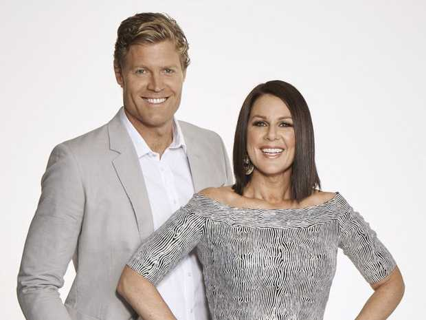 I'm A Celebrity... Get Me Out of Here! hosts Chris Brown and Julia Morris.