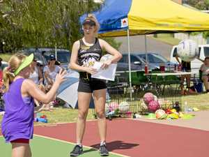 Claws put on netball clinic at the Gladstone courts