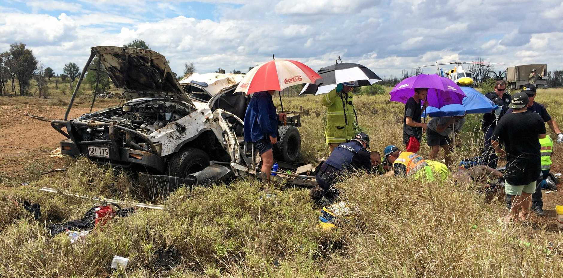 CQ Crash update: Car ends 80m from where it left road | Morning Bulletin