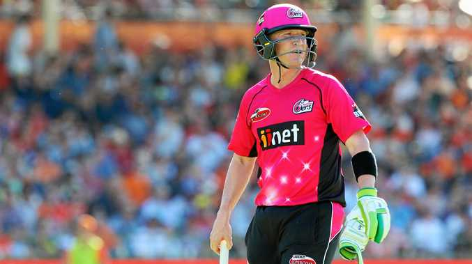 Brad Haddin after being dismissed during the Big Bash League final.