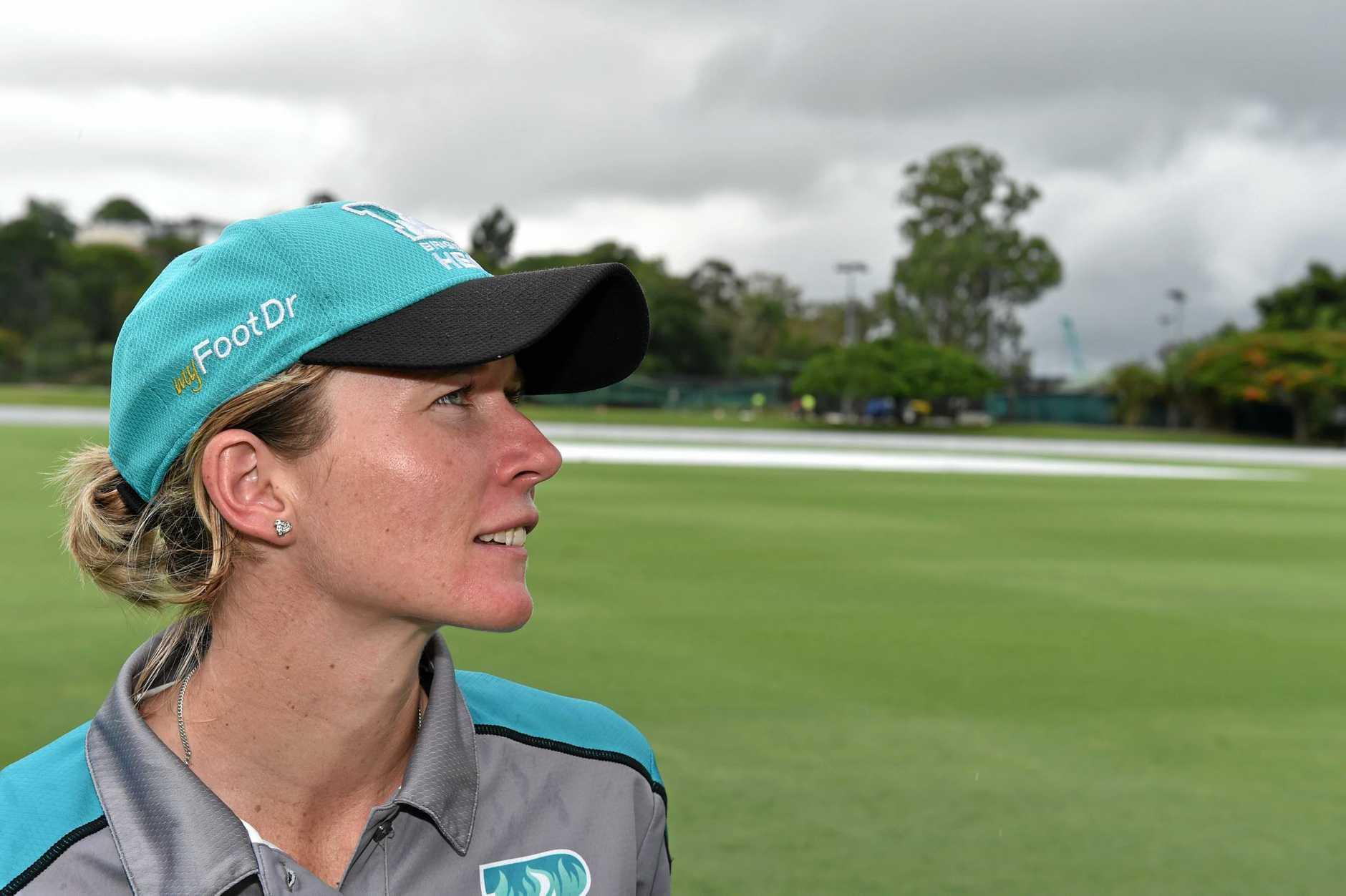 Hervey Bay product and Brisbane Heat opener-keeper Beth Mooney at Allan Border Field, Brisbane.