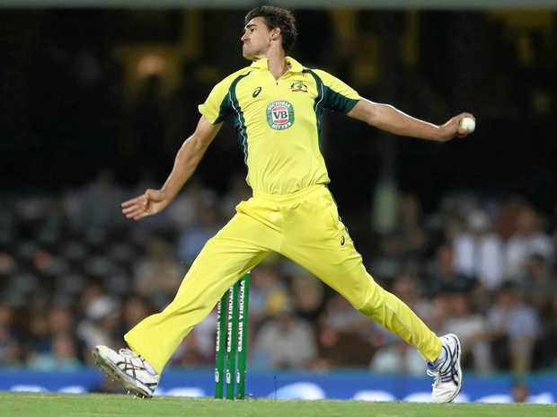SMASHED: Even Mitchell Starc was hammered by New Zealand's batsmen. He finished with 1-59 from 10 overs.