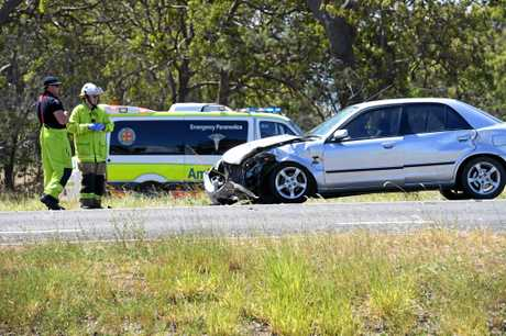 COLLISION: An ambulance was in the area when the crash happened.