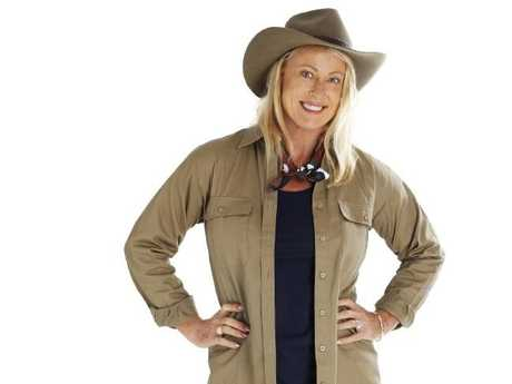 Swapping the Lycra for khaki: Lisa Curry's heading into the jungle.