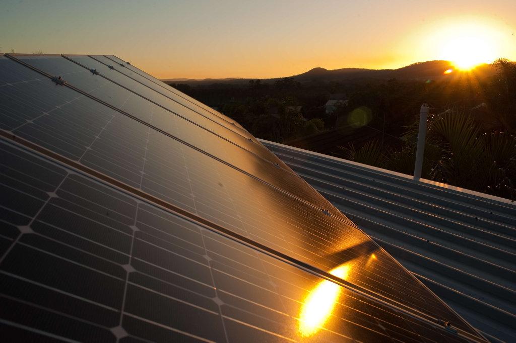 Solar panels Photo: Trevor Veale / The Coffs Coast Advocate.