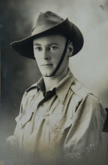 Copy of old photo of Bert Miles , Milne Bay battle veteran